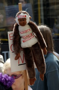 Animal testing protesters